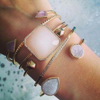 jewels cristals braclets golden