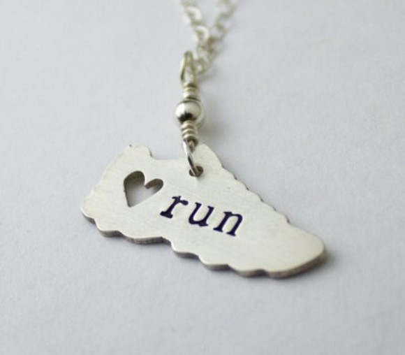 jewels necklace running shoes sporty style