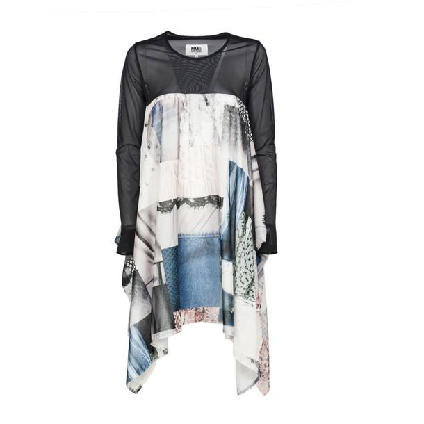 Mm6 Maison Margiela dress print dress patchwork print