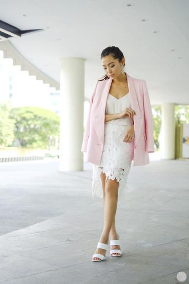 kryzuy shoes jewels jacket blogger skirt