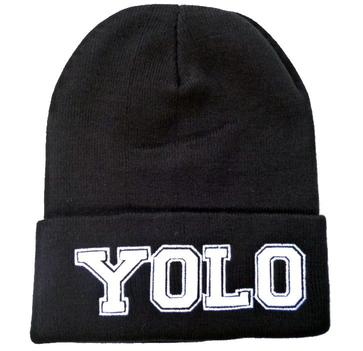 Fashion YOLO beanie 2013 new style winter knitted cap for men and women three dimensional embroidery beanies hats free shipping -in Skullies & Beanies from Apparel & Accessories on Aliexpress.com