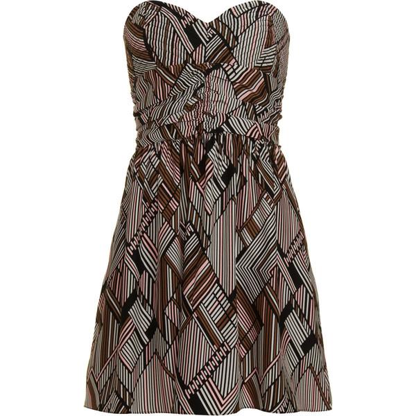 Parker - Geometric Strapless Dress - Polyvore