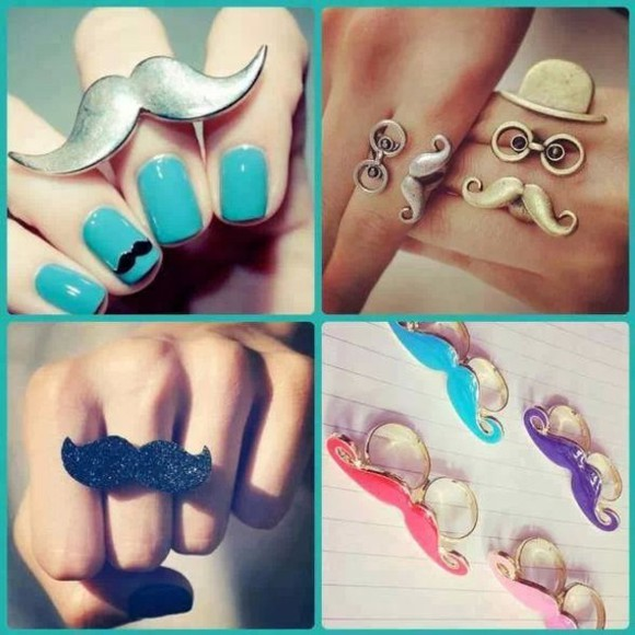 moustache jewels bague