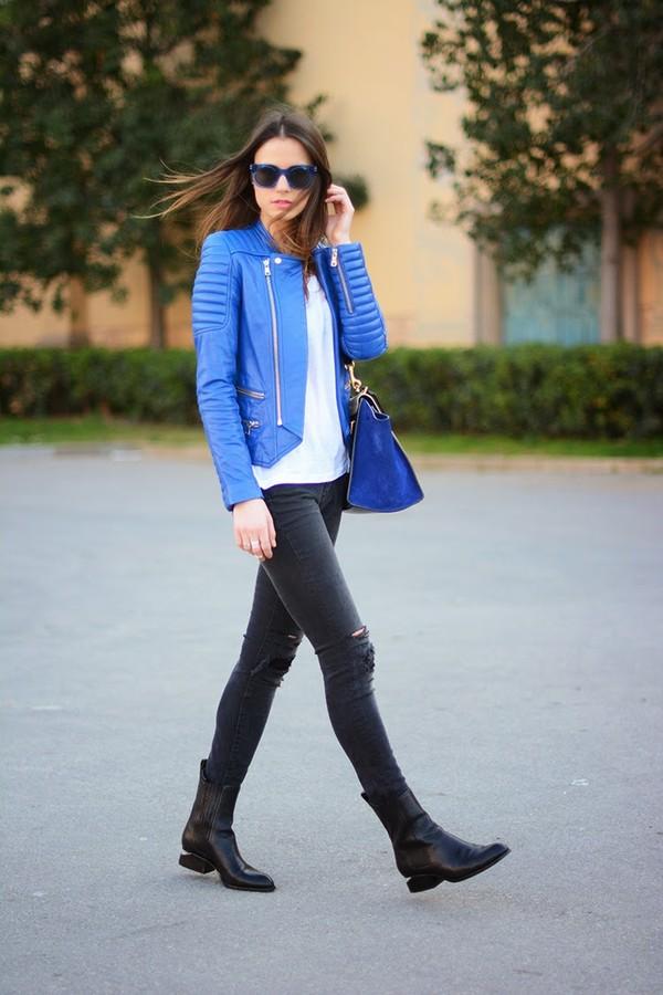 fashion vibe jeans jacket sunglasses t-shirt bag shoes