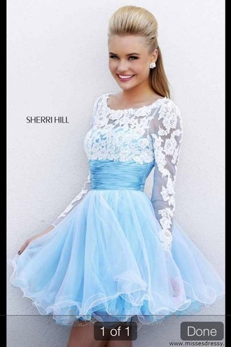 dress prom tulle skirt long sleeves trendy lace girly rose wholesale-ma blue blue dress lace dress skater dress blue skater dress