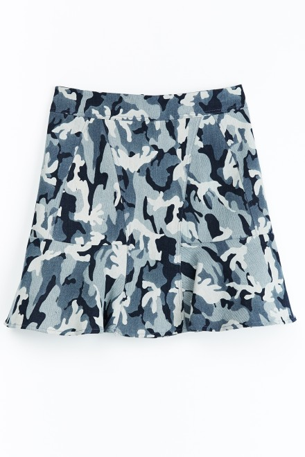 A-line Camouflage Skirt