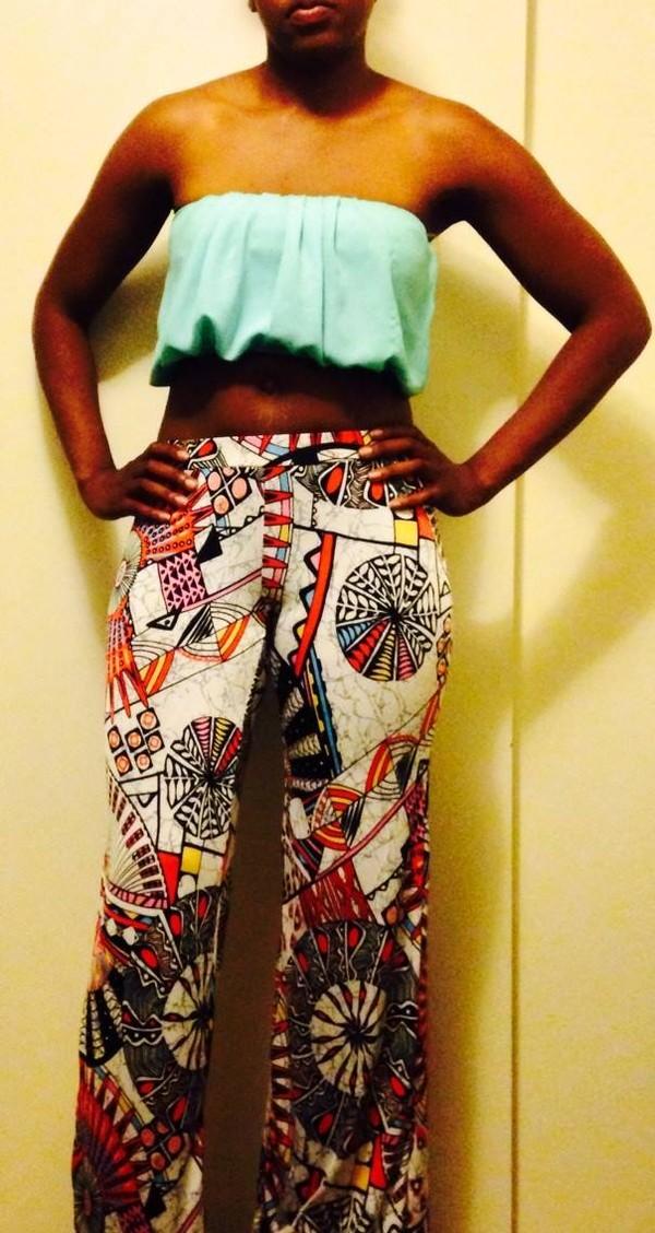 pants palazzo pants palazzo leggings wide-leg pants crop tops sexy crop top