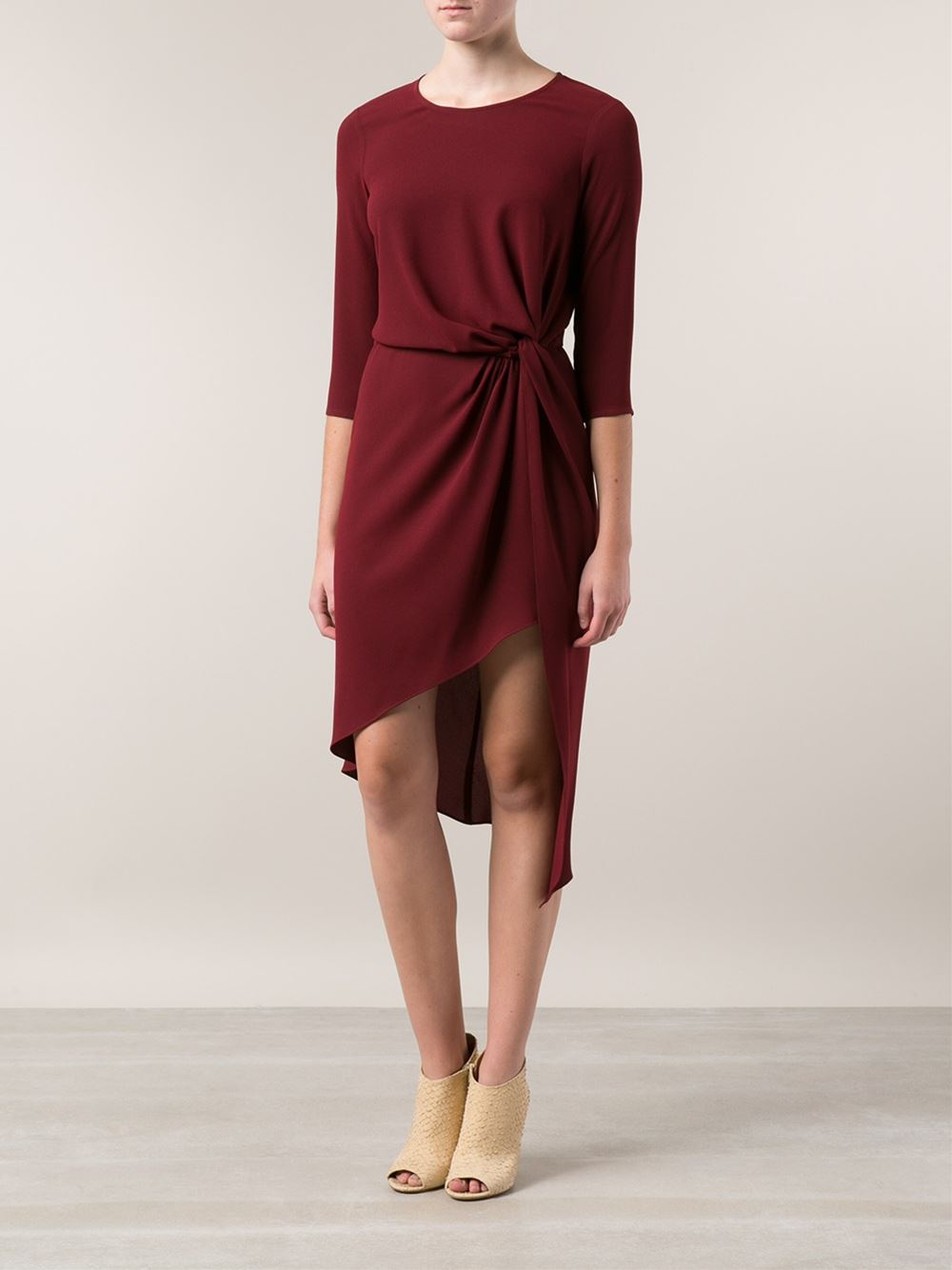 Haute hippie knotted draped dress