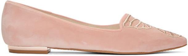 Sophia Webster butterfly flats velvet pink shoes