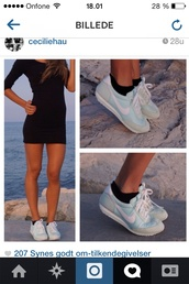 shoes,nike,blue,white,sneakers