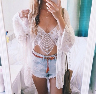 tank top white tank top crochet top lace top cardigan blouse