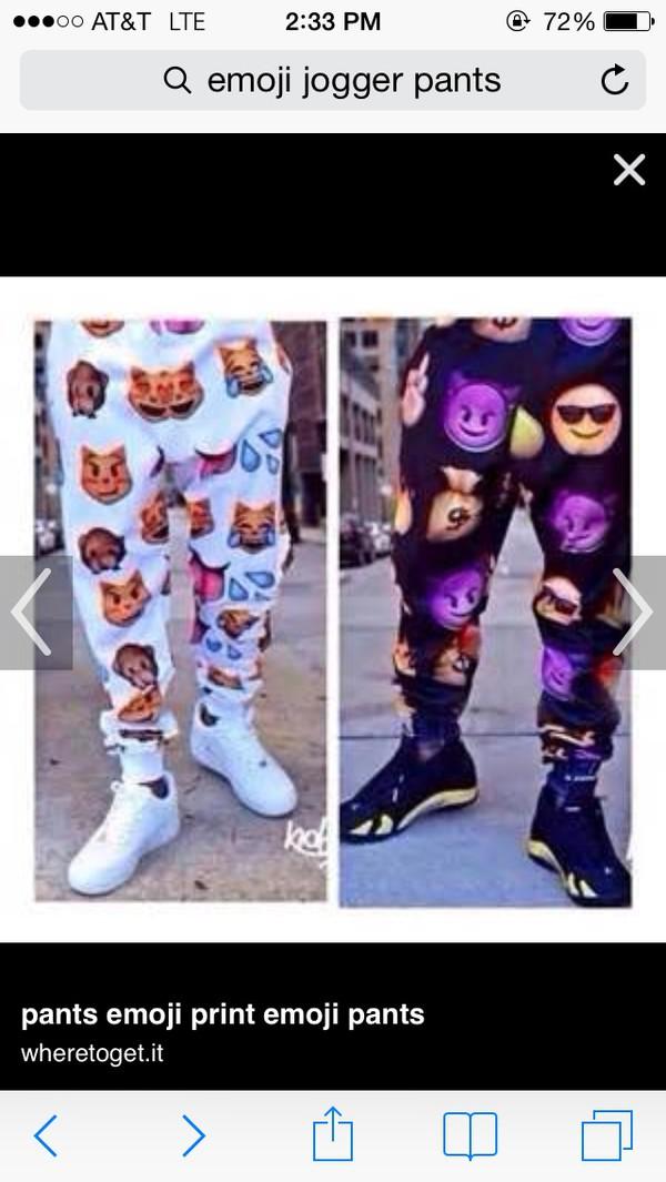 emoji pants pants