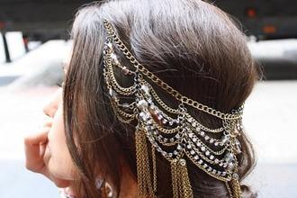 hair piece head jewels jewels headpiece jewelry hat headband bling jewelery hair accesorize gold golden jewel hair accessory hair chains