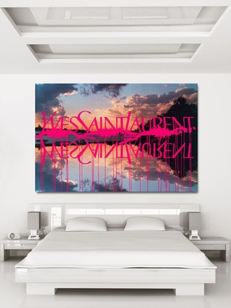 home accessory print yves saint laurent bedroom