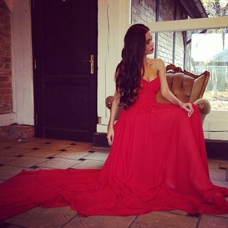 dress red maxi dress beautiful beautiful red dress gown red dress prom maxi pretty girl long hair strapless dress gorgeous dress long dress