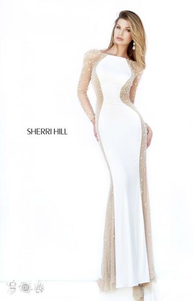 White Long Evening Dress