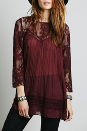 blouse,hollow out blouse,lace paneled,paneled,chic blouse,chic,lace blouses