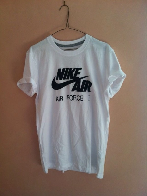 shirt t-shirt nike airforce1 tshirt white