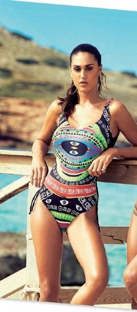 swimwear cecilia rodriguez one piece swimsuit one piece sexy colorful colorful swimwear belen rodriguez