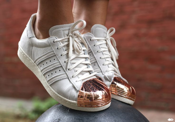 New adidas Originals Superstar 80s Rose Gold Metal Toe Cap Sneakers, Sz 5.5