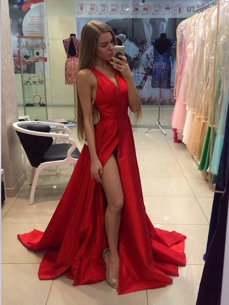 dress homecoming dress red