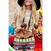 shorts,colorful,shapes,shirt,hat