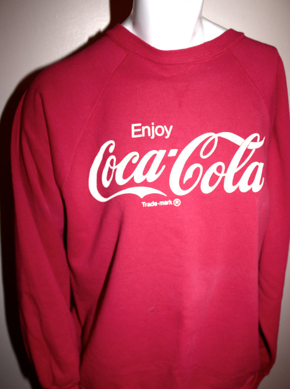Vintage Red Coca Cola Sweatshirt by MurdyBurdy on Etsy