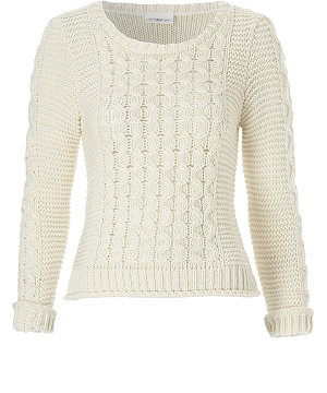 Chunky weave jumper