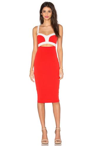 dress bustier dress red