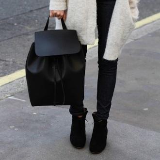 bag black leather leather bag style fashion kylie jenner