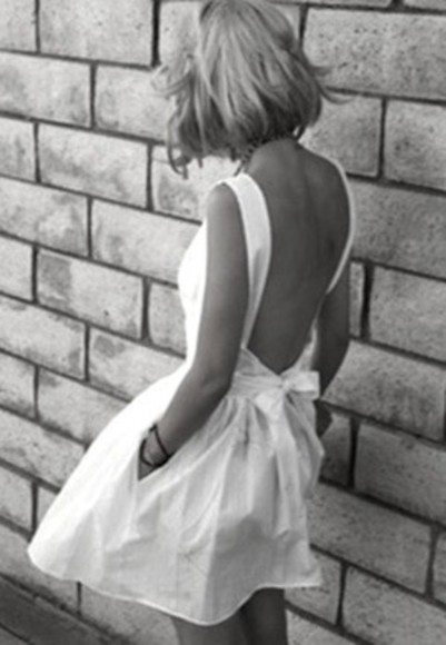 dress open back Bow Back Dress