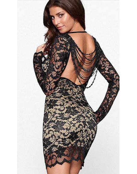 backless dress elegant party lace dress dress up wow luxury date