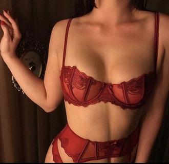 underwear red bottoms bra straps