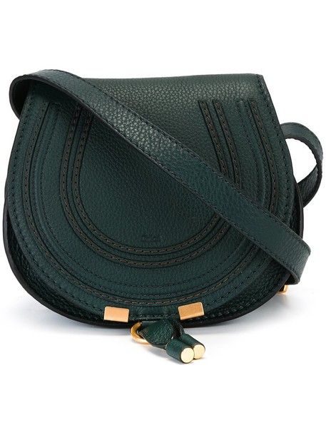 Chloe women bag shoulder bag leather green
