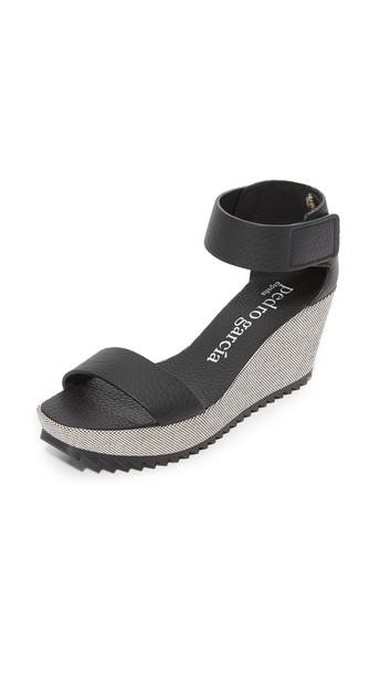 Pedro Garcia sandals wedge sandals black shoes