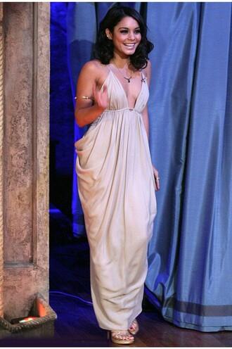 dress celebrity grecian dress prom dress