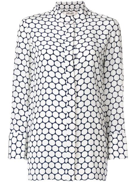 Dvf Diane Von Furstenberg blouse women white print silk top