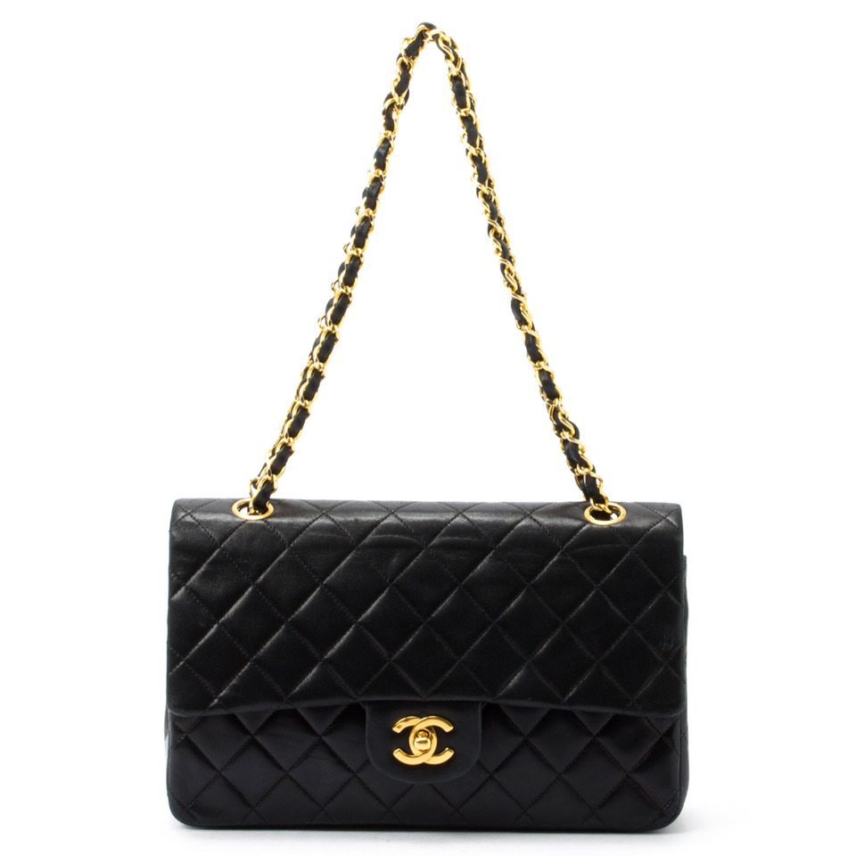 Chanel Classic 2.55 Double Flap Bag in Black - Beyond the Rack