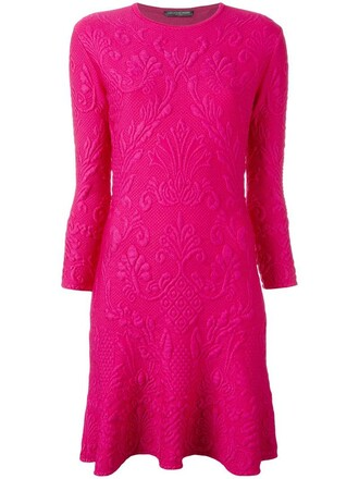 dress mini dress mini women spandex jacquard wool purple pink