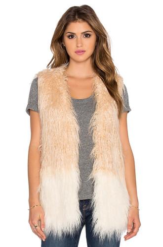 vest fur vest faux fur vest fur faux fur shell tan