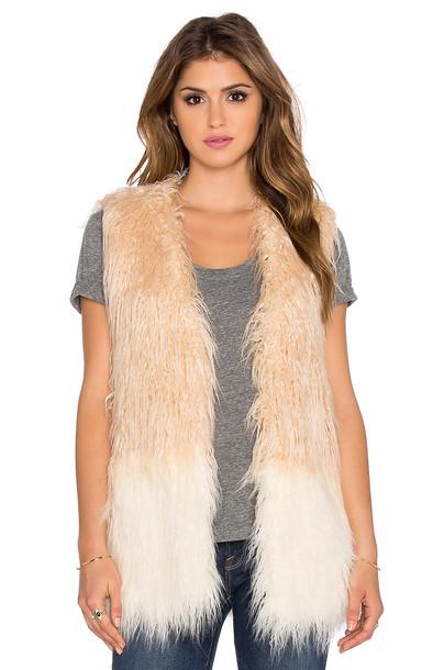 Heartloom vest fur vest faux fur vest fur faux fur shell tan