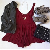 dress,studded jacket,mini dress,red dress,boots,ankle boots,studded bag,bag,jacket,jewels,shoes,maroon/burgundy,dark grey jacket,burgundy,coat,red swing dress,red,tan,straps,heels,high,peak toe,love these,fashion,pochette,rouge,lacets,talons,gris,black,girly,necklace,the cherry blossom girl,birds,lovly,skaterdress,high heels,perfect:),brown,burgundy dress,deep red,summer,blouse,look,studs,sweater,robe,jumpsuit,short dress,style,romper,cute dress,casual dress,red blouse,i want this dress,cotton dress,wide dress,sandals,clothes,outfit,grey