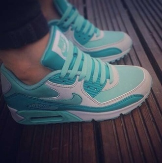 shoes air max blue and white