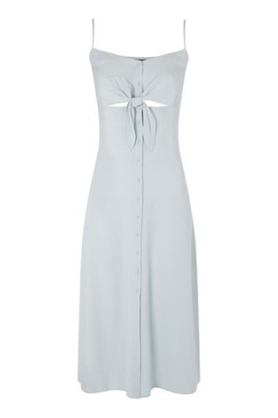 Topshop dress slip dress pale midi blue