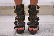 shoes,straps,leather,michael kors,leather heels,buckles