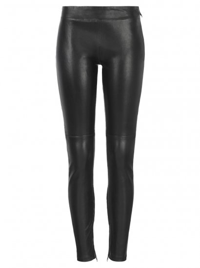 Rica Stretch Leather Leggings in Black