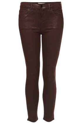 MOTO Aubergine Coated Leigh Jeans - Jeans  - Clothing  - Topshop