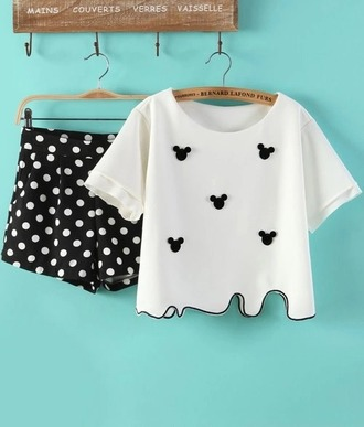 shirt mickey mouse embellished top