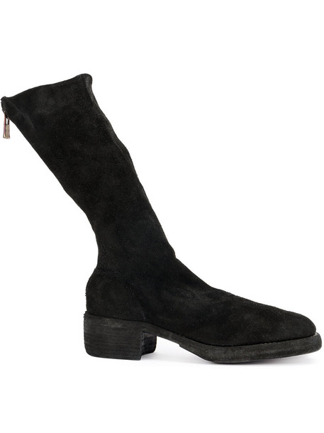Guidi horse women leather black shoes