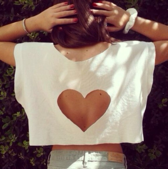 white beauty shirt heart cool swag top hipster beautyful